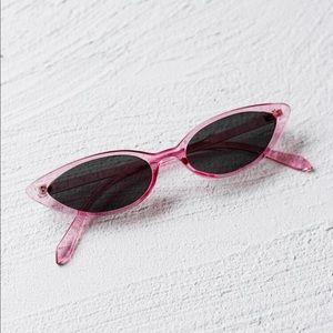 Pink Cat Eyed Sunglasses NWT